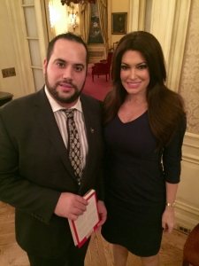 """Robert M. Greco along with Kimberly Guilfoyle of Fox News, author of a new book, """"Making the Case, How to Be Your Own Best Advocate"""